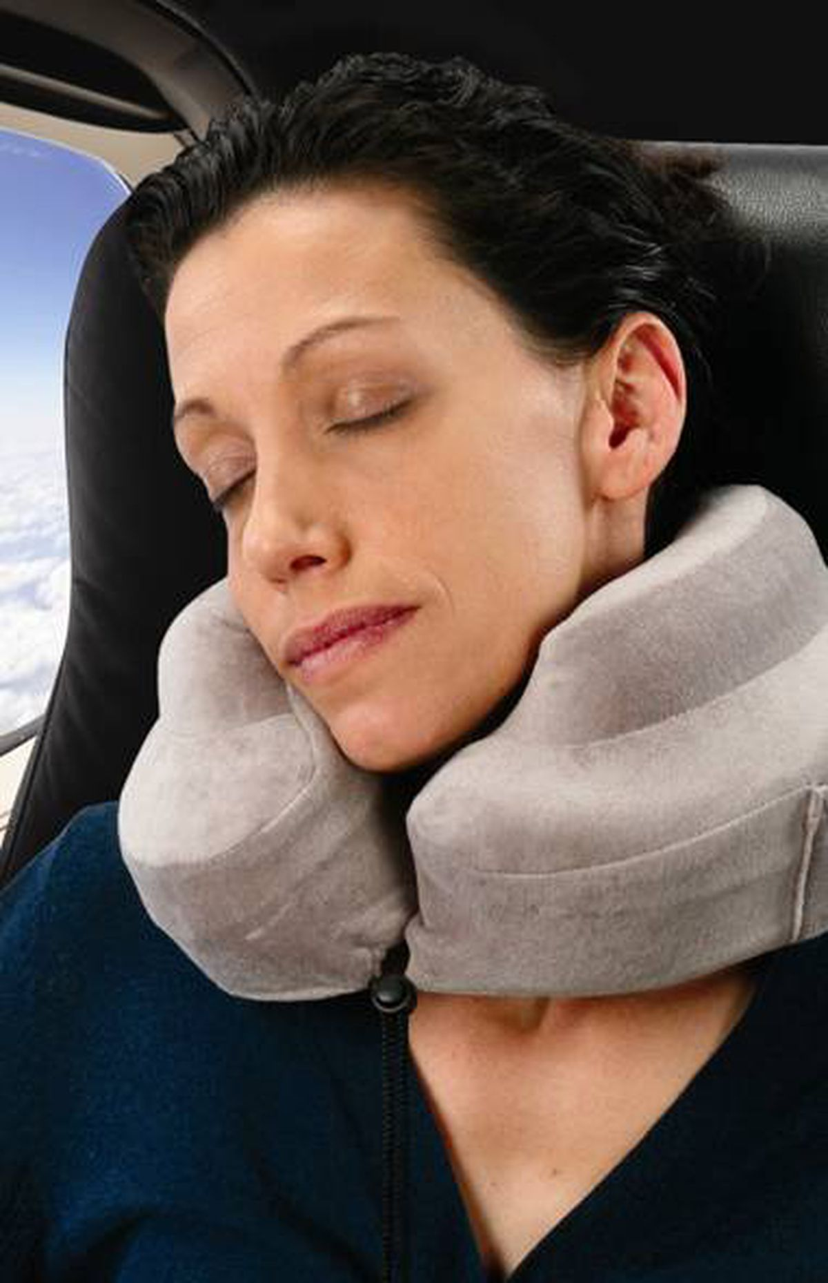 Sleep on it Tired of travelling with a stiff neck and little sleep? The Complete Support Pillow by Cabeau outperforms the average inflatable travel pillow with its ergonomically designed, soft memory foam structure that cradles the neck and guards against head bobbing. Added comfort comes from the cozy velour cover that is easy to remove and wash. If you need music to lull you to sleep, tuck an MP3 player into the built-in side pocket, pop in the memory foam ear plugs and start dreaming. $34.99; completesupportpillow.com