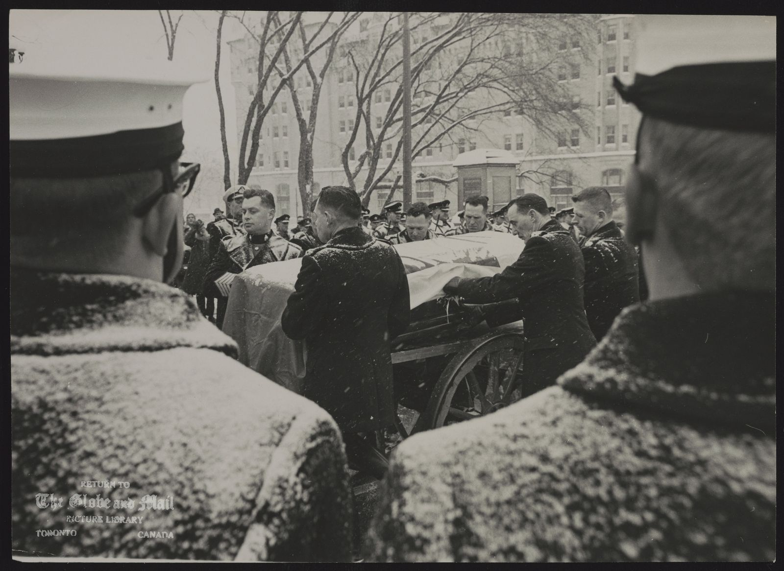 Vincent MASSEY funeral at Ottawa.
