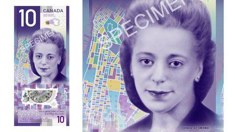 Canada's unveils new vertical $10 bill featuring Viola Desmond