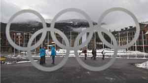 A view of Athletes' Village in downtown Whistler, B.C., on Wednesday. Intrawest, which owns nearby Whistler Blackcomb ski resort, is slated to be auctioned off during the Olympics.