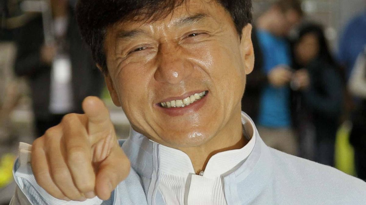"""Jackie Chan poses during a photo call for his film """"Chinese Zodiac"""" at the Cannes Film Festival on May 18, 2012."""