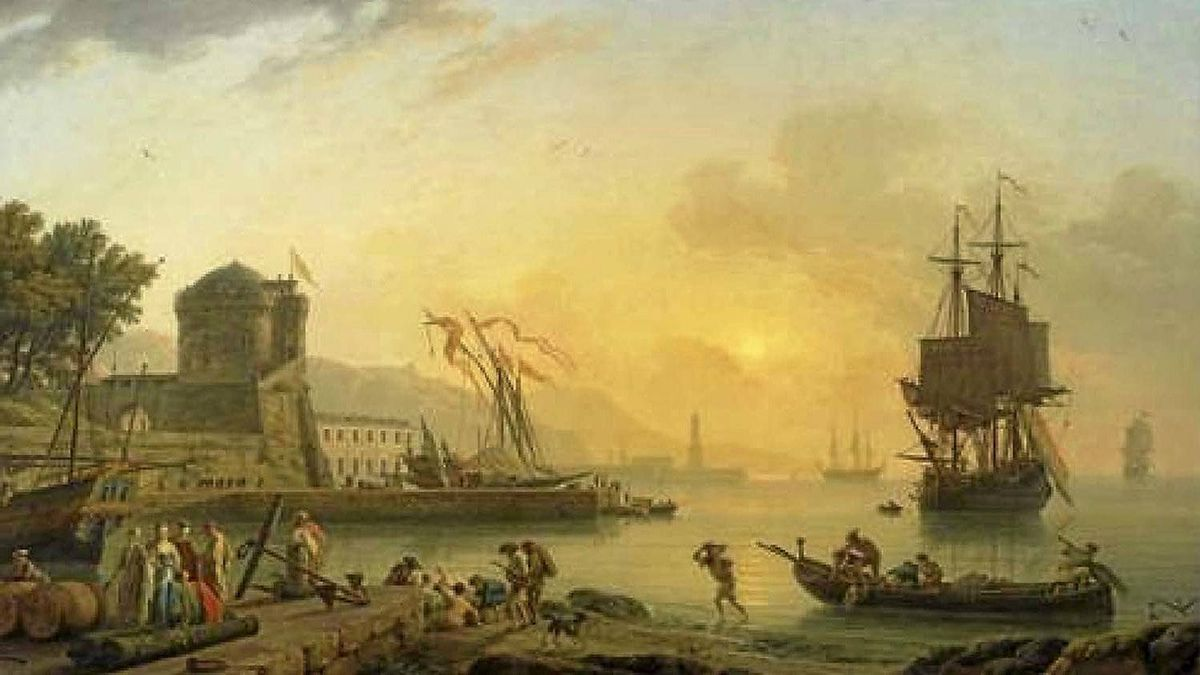 """Detail of """"A Grand View of the Sea Shore"""" by Claude-Joseph Vernet"""