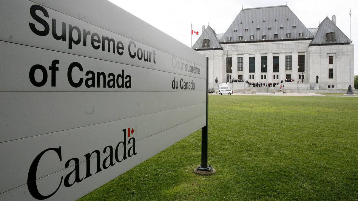 The Supreme Court of Canada building in Ottawa, Ont.