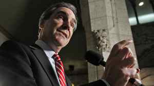 Liberal Leader Michael Ignatieff speaks to reporters in the foyer of the House of Commons on Nov. 30, 2010.