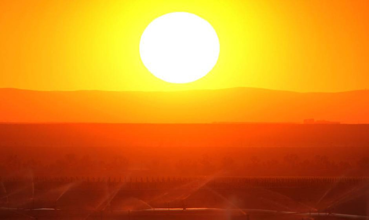 The sun sets at the southern end of the parched San Joaquin Valley: America's salad bowl no longer.