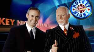Ron MacLean (left) and Don Cherry on CBC's Hockey Night in Canada in a 2006 file photo.