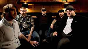 Canadian rock group Alexisonfire, left to right, Chris Steele, Dallas Green, George Pettit, Jordan Hastings, and Wade MacNeil pose for a photograph in Toronto on Wednesday, June 17, 2009.