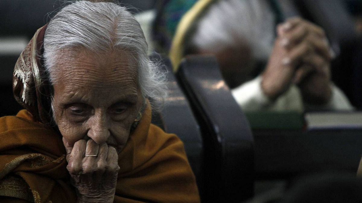 Elderly women offer Christmas prayers at St. James Church in New Delhi, India, Sunday, Dec. 25, 2011. Christmas is a national holiday in India, marked by millions of all religions and faiths.