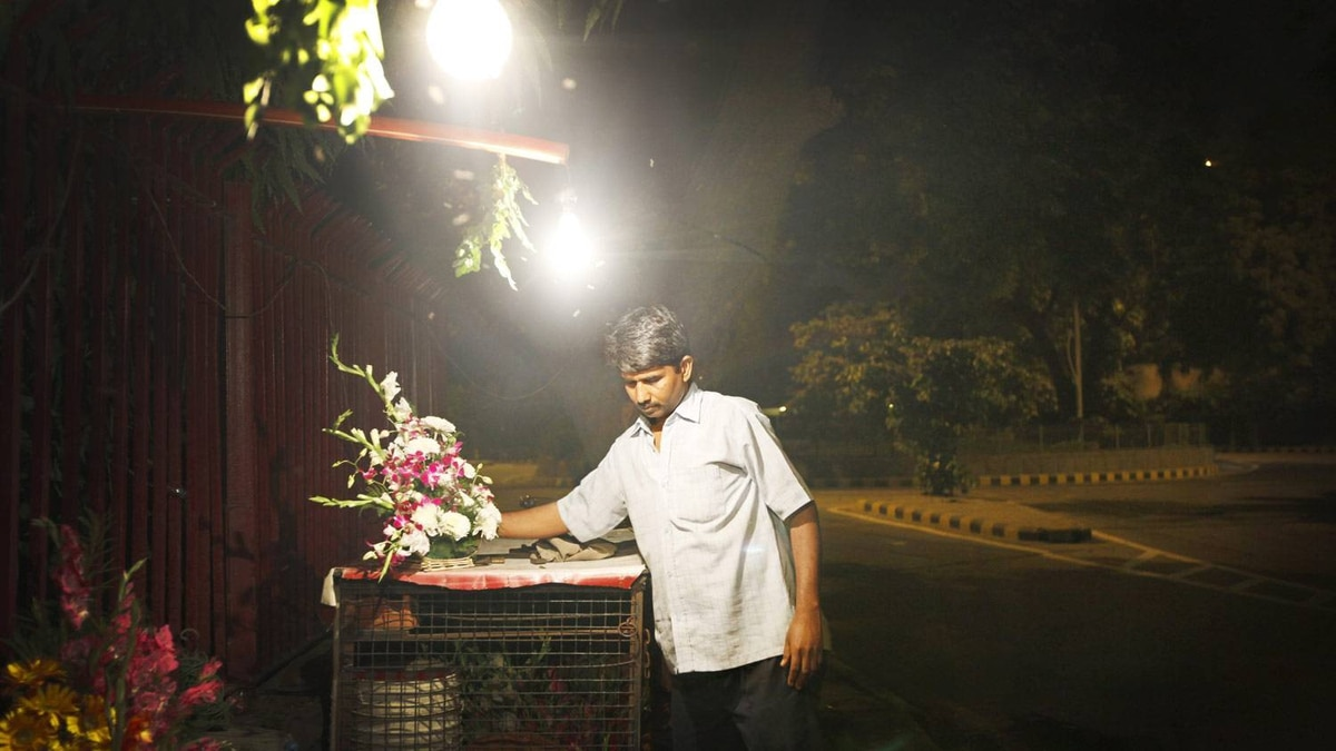 At 10 p.m., Mr. Verma begins to close his stall. The remaining flowers will be put under a tarp in hopes of being sold the following day. It takes Ayodha and his assistant about 30 minutess to close. He'll be home by 11 p.m.