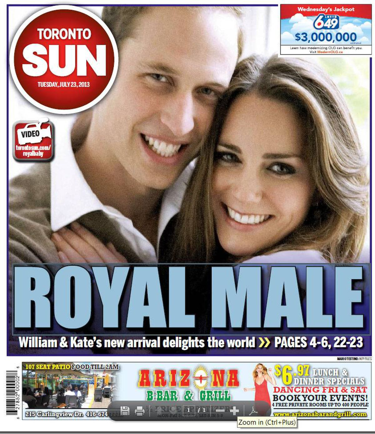 In Photos: World's Headline Writers Deliver Royal Baby