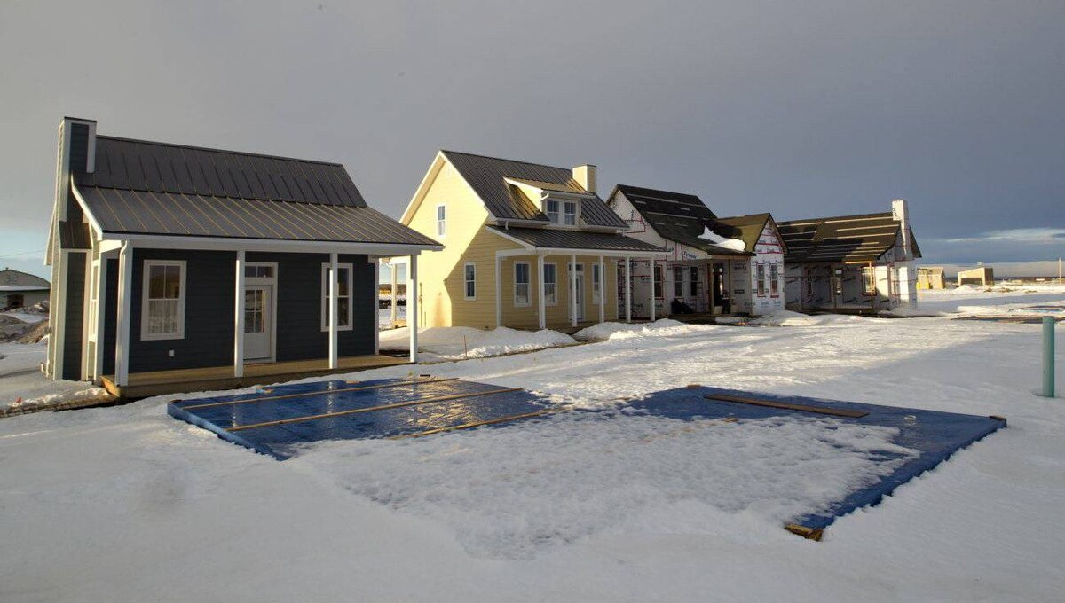 New cottages being built for resale in the Coyote Commons area of Chipman.