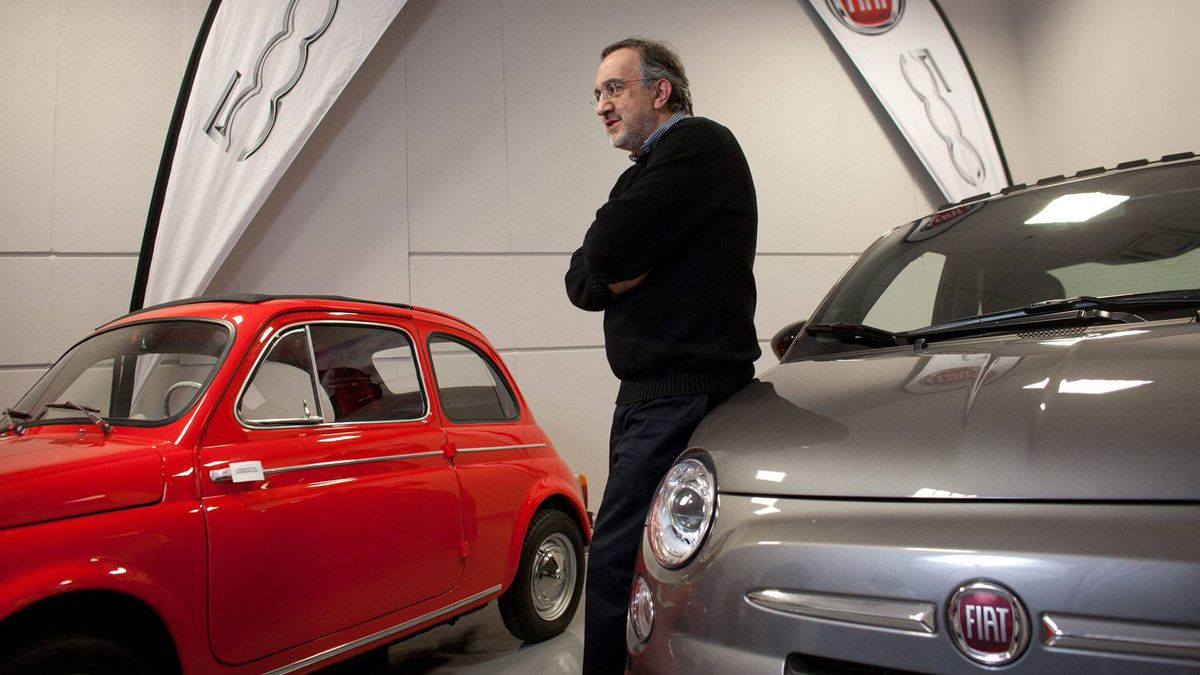 Sergio Marchionne, CEO of Chrysler Group LLC and Fiat, poses for a photo at the grand opening of Maranello Fiat in Vaughan, Ont.
