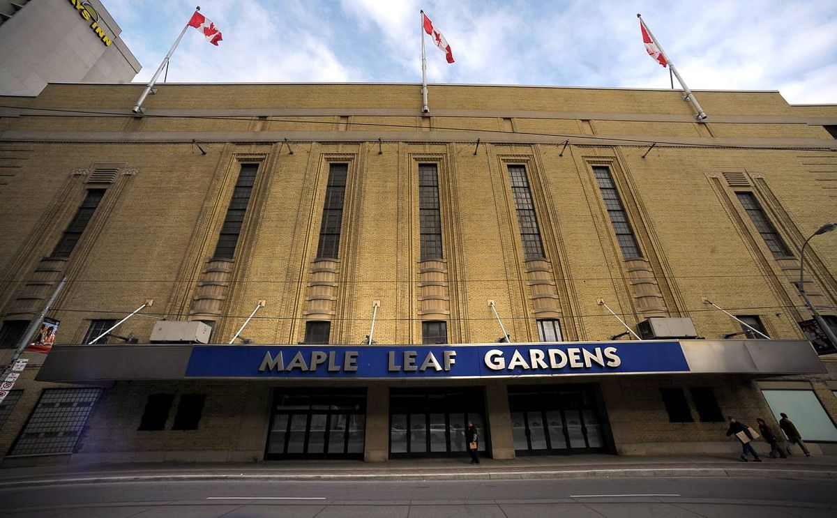 Maple Leaf Gardens, built in 1931, Carleton Street in Toronto.