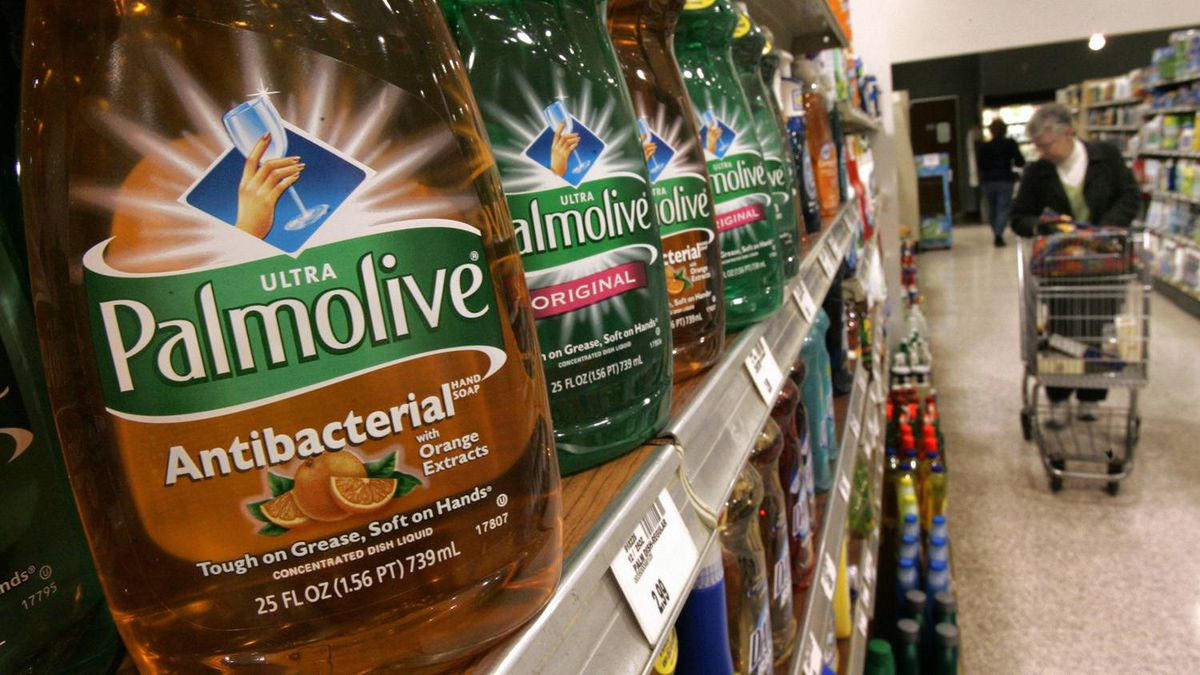 A shopper makes her way through the cleaning products aisle of the Heinen's grocery store in a Bainbridge, Ohio file photo from April 26, 2006.