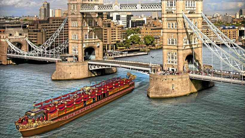A computer generated image of The Spirit of Chartwell vessel as the Royal Barge that will carry the Queen in the Thames Diamond Jubilee River Pageant in celebration of her 60-year reign, on June 3.