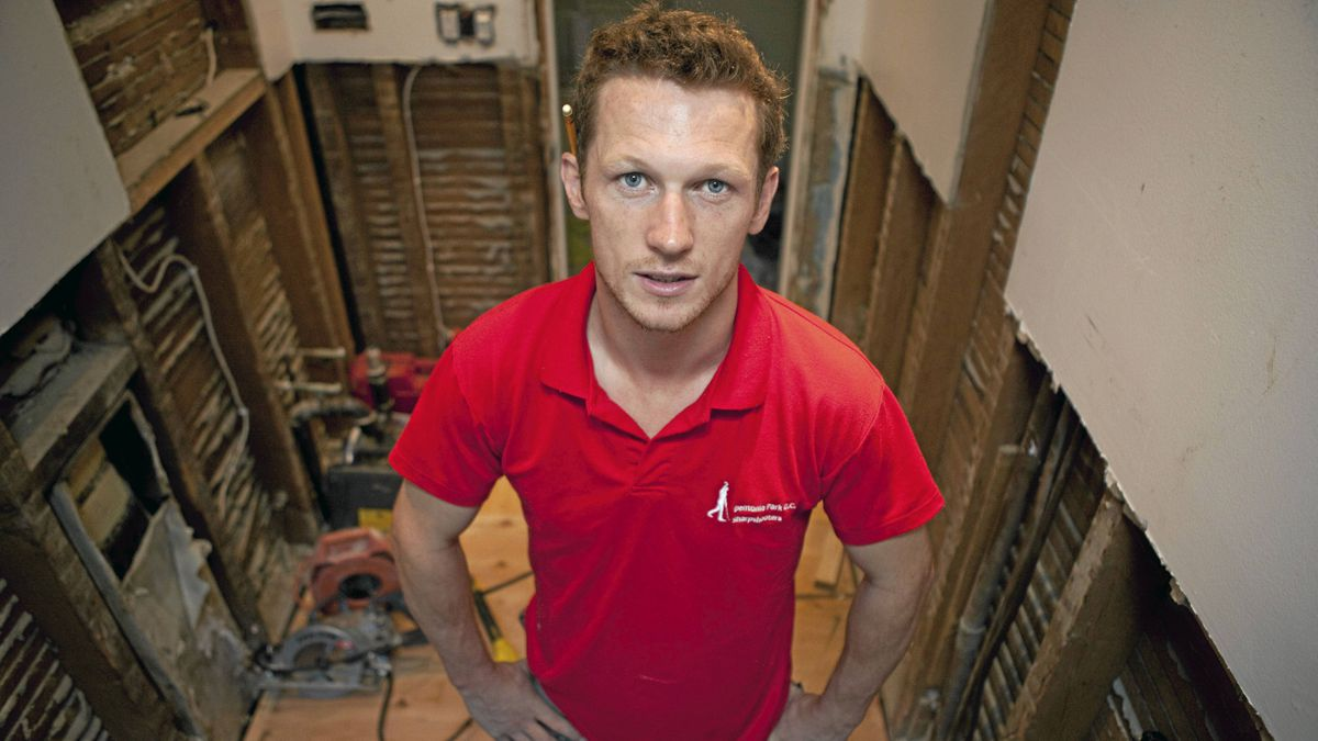 Declan Power came to Canada four months ago from Tipperary, Ireland, and works for Immaculate Construction