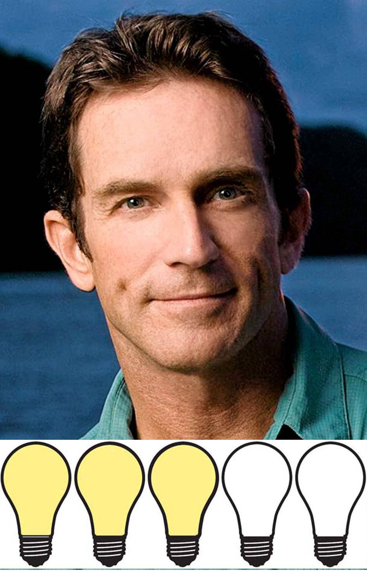 """JEFF PROBST: 60 watts Congratulations, Survivor host Jeff Probst. People magazine confirmed that you married Lisa Ann Russell in L.A. on Monday . We're sure it was lovely. And it got some great press for you. It's always nice to get a plug for your self-titled talk show that's making its debut next year, right? (You're welcome!) And while we hope you two enjoy marital bliss for ever and ever, let's face it, you've got the best break-up line ever waiting in the bag whenever you need to pull it out. """"Lisa, I'm sorry. But you've been voted off the island. The island of our marriage!"""" It would be worth you two splitting up just to hear you say that."""