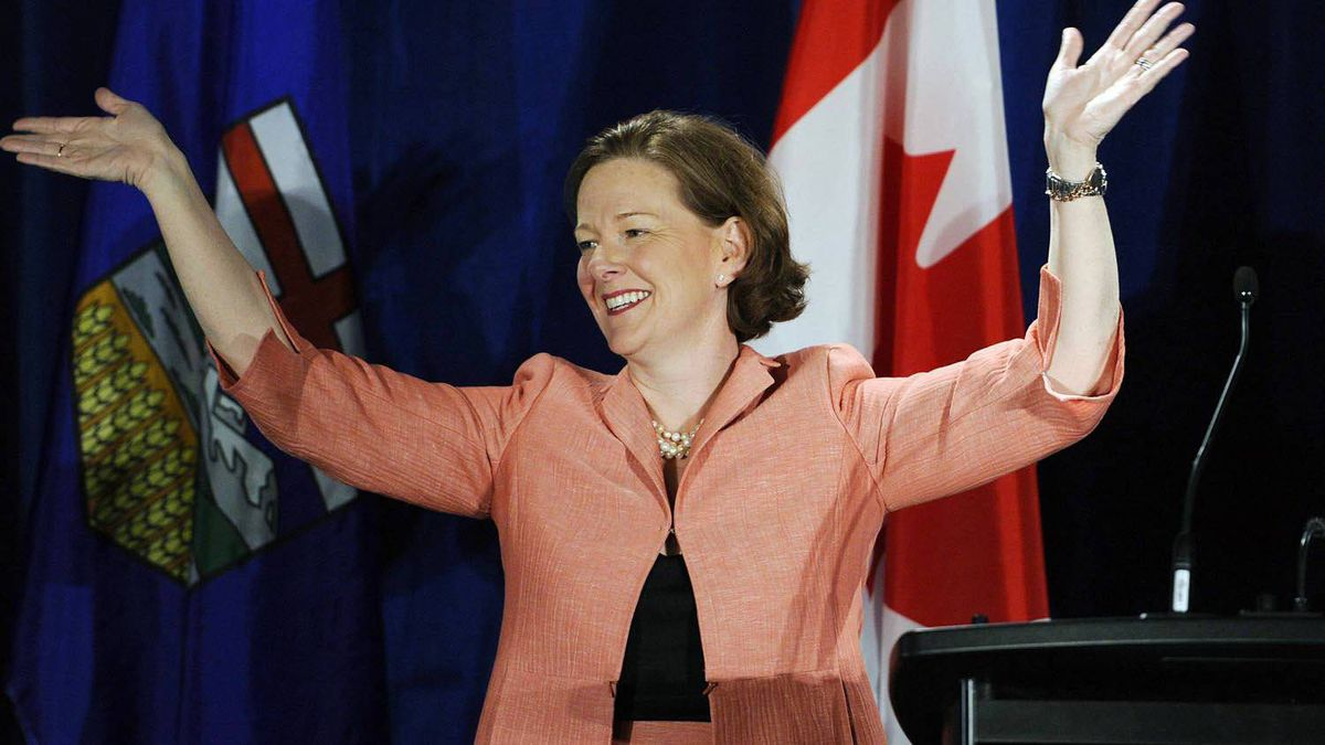 Alberta Premier Alison Redford led her Progressive Conservative party to a strong, if surprising, election victory Monday, April 23, 2012.