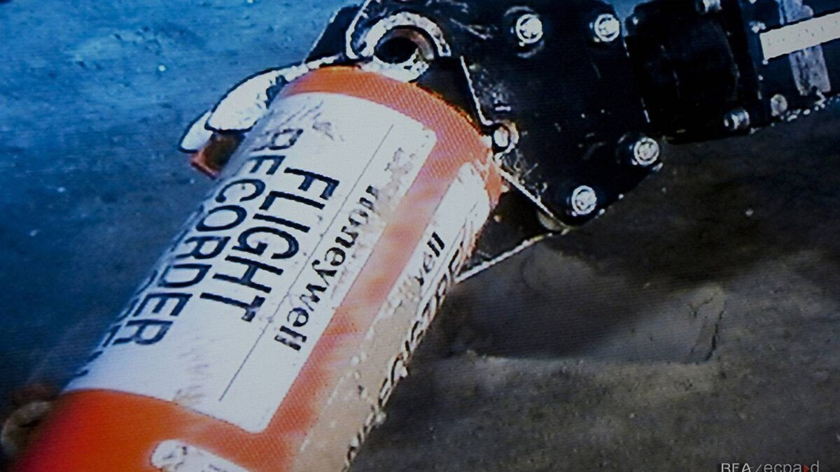 This photo provided Sunday May 1, 2011 by France's air accident investigation agency, the BEA, shows the flight data recorder from the 2009 Air France flight that went down in the mid-Atlantic.