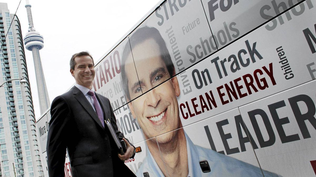 Ontario Premier Dalton McGuinty visits with the editorial board of The Globe and Mail in Toronto on Sept. 29, 2011.