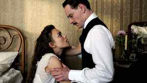 "Keira Knightley and Michael Fassbender in a scene from ""A Dangerous Method"""