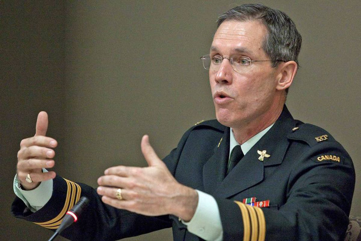 Lieutenant-Colonel Douglas Boot testifies at the Military Police Complaints Commission hearing on the treatment of Afghan detainees in Ottawa on April 15, 2010.