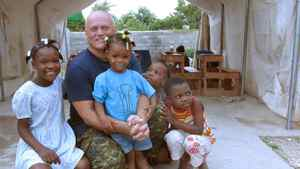 Lt.-Col. Roger Gagnon in Port-au-Prince, Haiti. Lt.-Col. Roger Gagnon is on his first UN mission in Haiti, and will be spending this Christmas (2011) with his fellow Canadian soldiers and local orphans.
