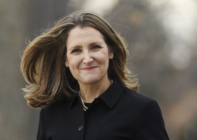 Deputy PM Freeland to oversee relations with U.S. and provinces in Trudeau's new cabinet