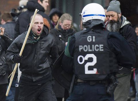 Officers move to restrict Montreal protest against police brutality
