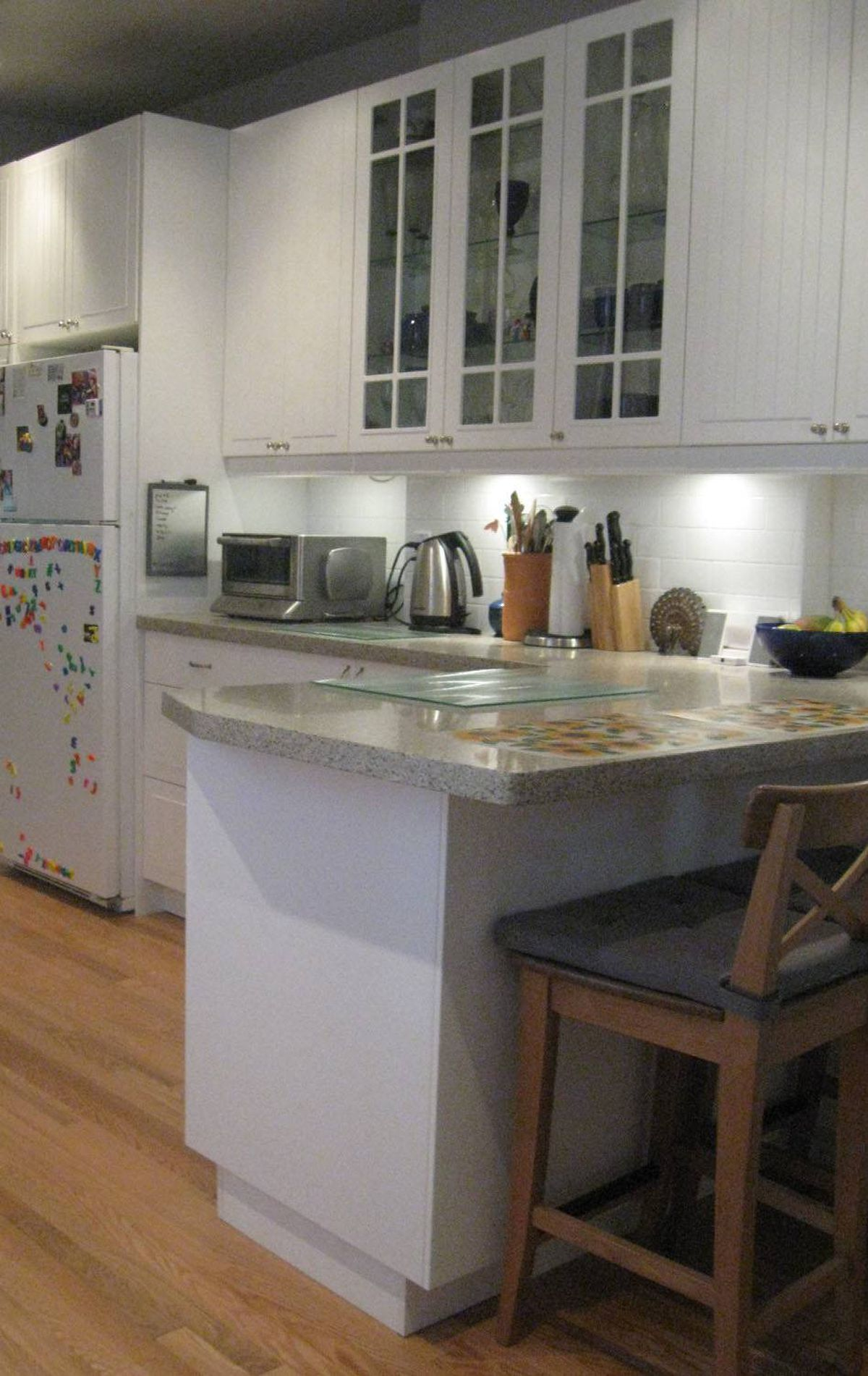 The south countertop provides lots of prep space.