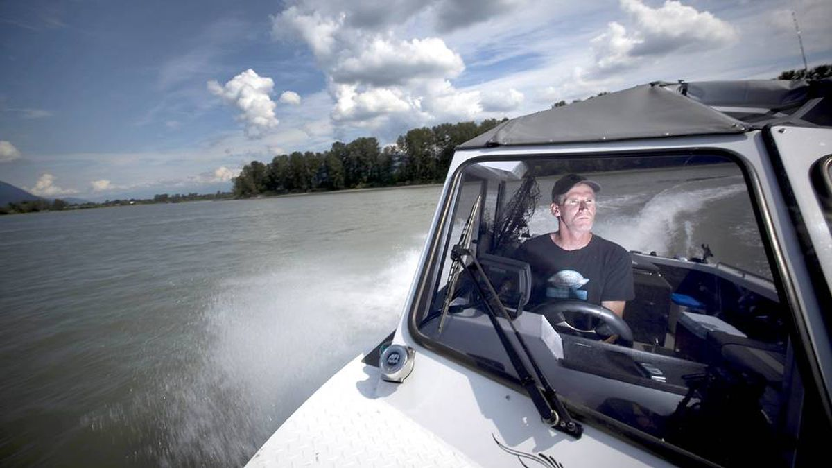 Brian McKinlay, owner and head guide of Silversides Fishing Adventures on the Fraser river near Mission, B.C.