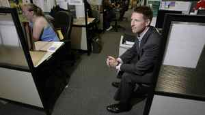 Roger Hardy, Chariman and CEO of Coastal Contacts Inc. in the call center at his office in Vancouver, BC, August 31, 2007. Hardy's company sells contact lens products online.