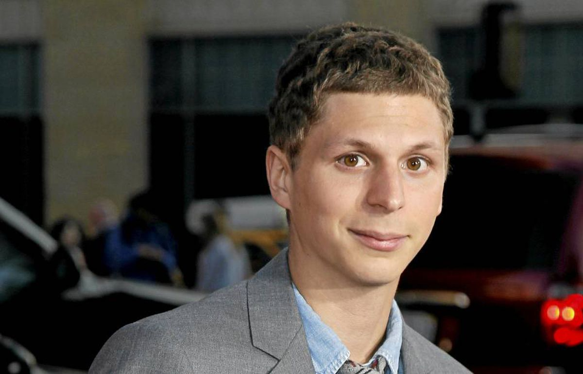 """Michael Cera poses at the premiere of the movie """"Scott Pilgrim vs. the World"""" at the Grauman's Chinese theatre in Hollywood, California, July 27, 2010."""