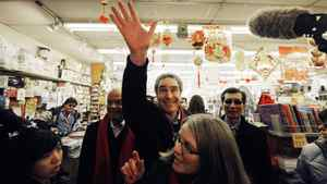 Liberal Leader Michael Ignatieff campaigns in Toronto on March 28, 2011.
