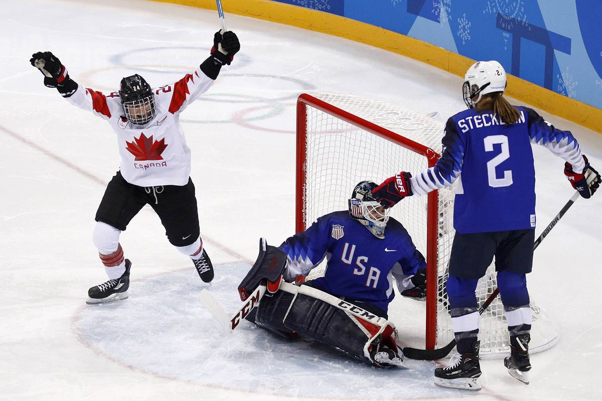 Canada, USA Tied 2-2 in Third Period of Women's Hockey Gold Medal Game at Winter Olympics