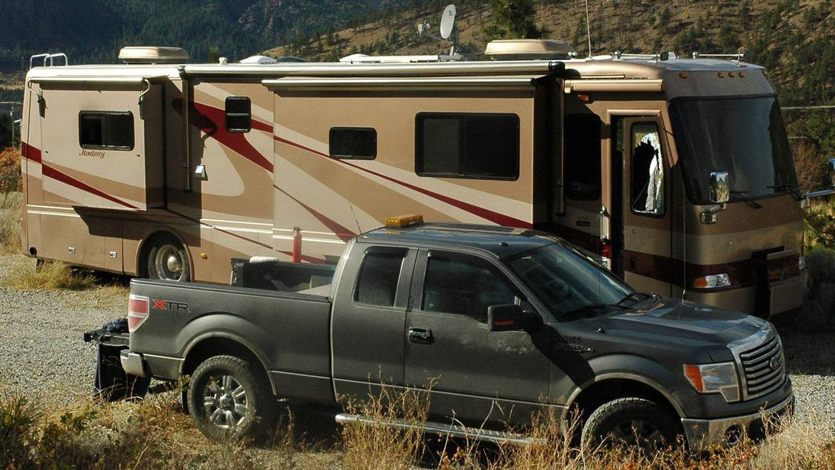 Motorhome where two children, aged four and five, died shortly after being pulled from the burning vehicle is shown in this RCMP handout photo taken Thursday Oct. 13, 2011 in Lytton, B.C.