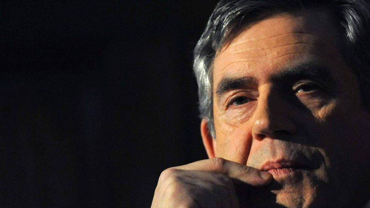 Britain's Prime Minister Gordon Brown listens during the Progressive Governance Conference in London February 19, 2010.