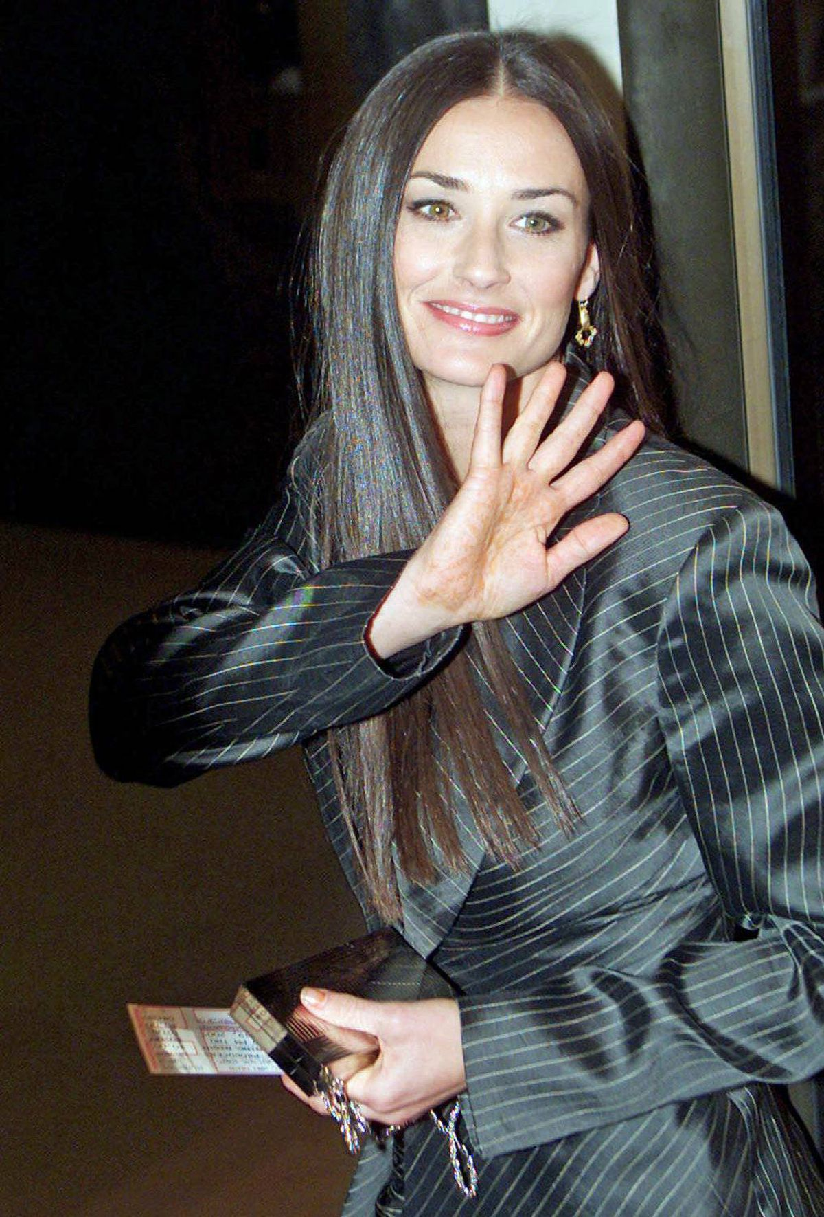 Demi Moore arrives at the premiere of Mel Brooks' 'The Producers' in New York, April 19, 2001.