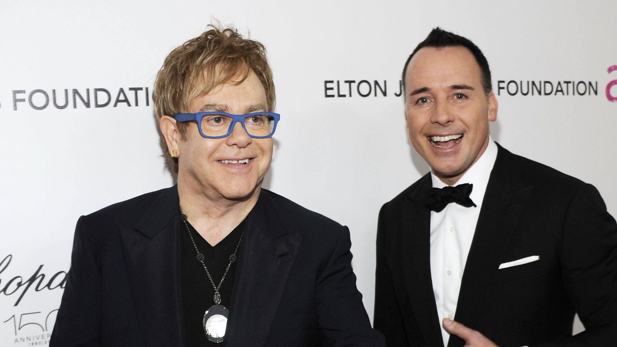 Sir Elton John and partner David Furnish attend the 18th Annual Elton John AIDS Foundation Academy Award Party in Hollywood, March 7, 2010.
