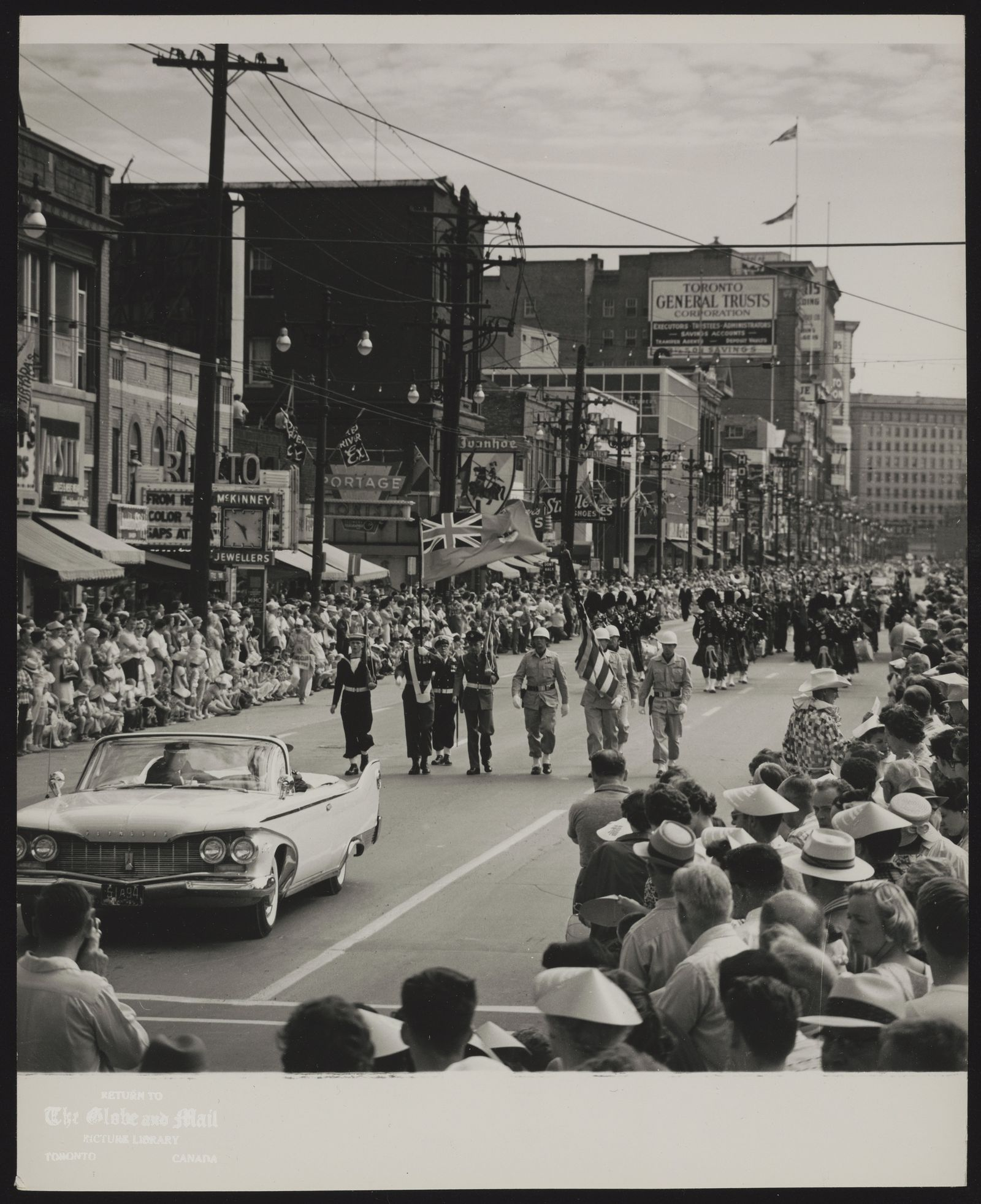 DOMINION DAY in Winnipeg, [July 1, 1961] Dominion Day is many things to many people. To the old-timer it is history; to the child, noise and fun; to the serviceman, marching...To Winnipeggers it is all these things and more -- a time when everyone joins to mark Canada's birthday in his own special way. All the ways and all the peoples add up to just one word -- Canadian.