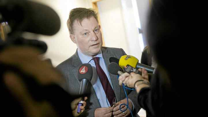 The lawyer representing two Swedish women at the center of rape and sexual assault allegations against WikiLeaks founder Julian Assange, Claes Borgstroem, speaks to journalists on December 8, 2010 at the Borgstroem & Bodstroem lawfirm in Stockholm. Borgstroem said hackers had attacked the Internet site and email service of the lawfirm. The WikiLeaks site has also come under sustained cyber attack since it began dumping some 250,000 confidential US diplomatic memos on November 28.