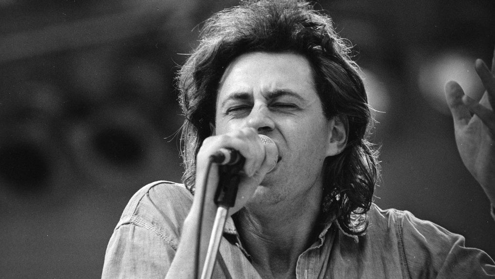 7d4b52030d1e3 ... Irish rock singer and activist Bob Geldof performed during the Live Aid  concert at London s Wembley