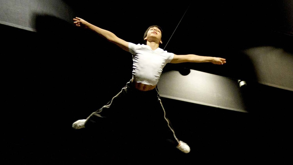 "A young dancer soars overhead during a rehearsal for ""Billy Elliott: The Musical"" at the Canon Theatre in Toronto."