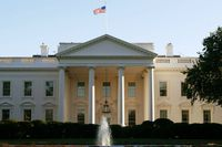 An exterior view of the White House is seen October 2, 2003 in Washington, DC.
