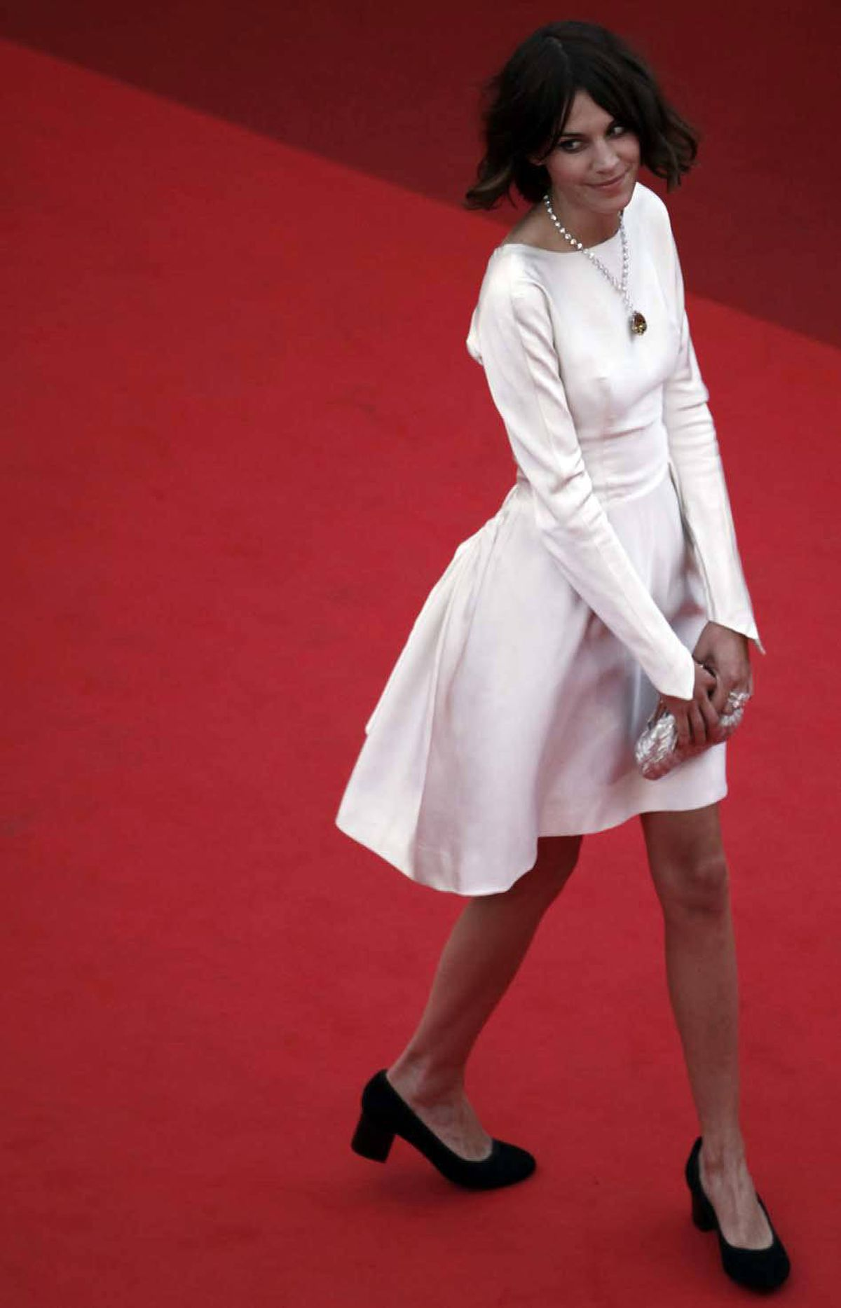 "Thursday at the Cannes Film Festival, British model Alexa Chung arriges for the screening of ""Sleeping Beauty."""