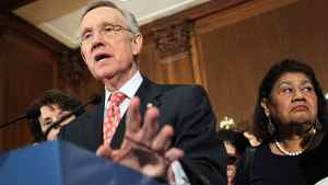 U.S. Senate Majority Leader Sen. Harry Reid (D-NV) speaks during a news conference July 30, 2011 on Capitol Hill in Washington, D.C.
