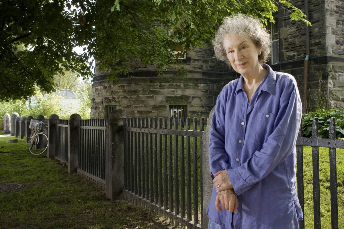Author Margaret Atwood in shown in Toronto's Annex neighbourhood on Aug. 18, 2009.