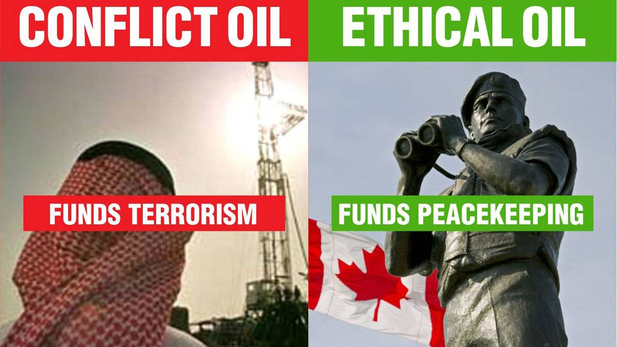 An ad campaign compares Canadian oil to that produced in other parts of the world.