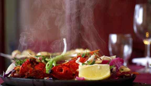 Tandoori Chicken at The Copper Chimney Restaurant on Avenue Road