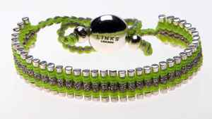 Links of London silver and green bracelet, $275 at Holt Renfrew (www.holtrenfrew.com).